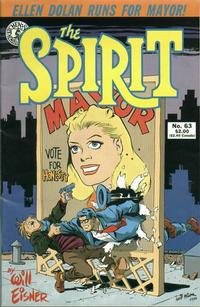 Cover Thumbnail for The Spirit (Kitchen Sink Press, 1983 series) #63