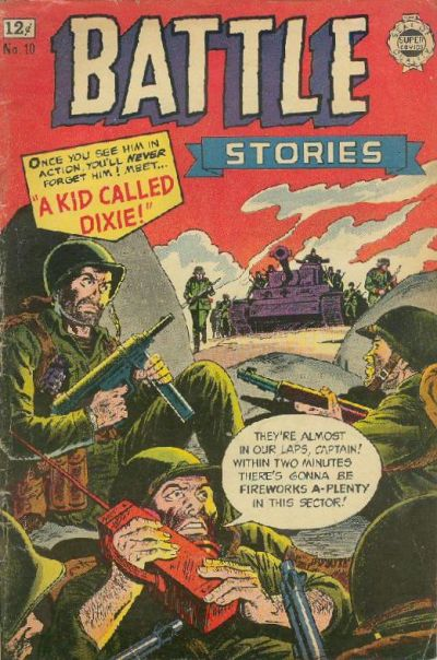 Cover for Battle Stories (I. W. Publishing; Super Comics, 1963 series) #10