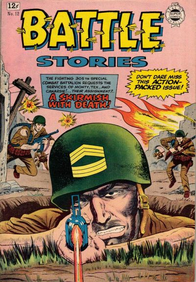 Cover for Battle Stories (I. W. Publishing; Super Comics, 1963 series) #12