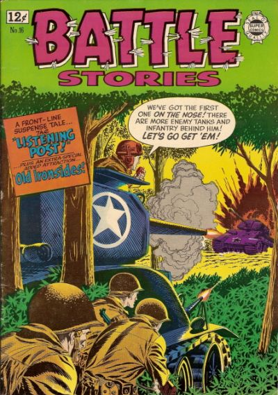 Cover for Battle Stories (I. W. Publishing; Super Comics, 1963 series) #16