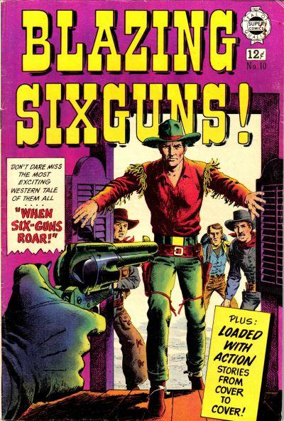 Cover for Blazing Sixguns (I. W. Publishing; Super Comics, 1958 series) #10