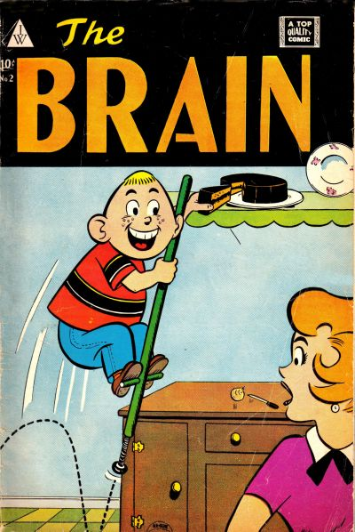 Cover for The Brain (I. W. Publishing; Super Comics, 1958 series) #2