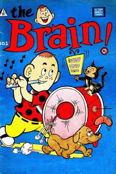 Cover for The Brain (I. W. Publishing; Super Comics, 1958 series) #3
