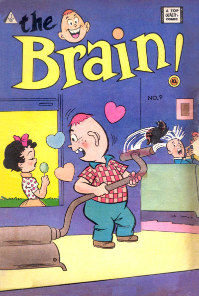 Cover for The Brain (I. W. Publishing; Super Comics, 1958 series) #9