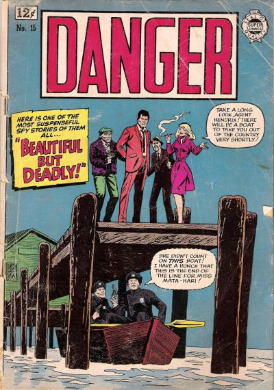 Cover for Danger (I. W. Publishing; Super Comics, 1963 series) #15