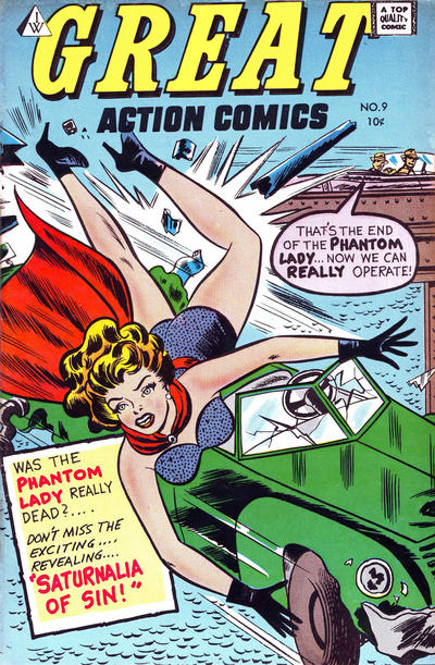 Cover for Great Action Comics (I. W. Publishing; Super Comics, 1958 series) #9