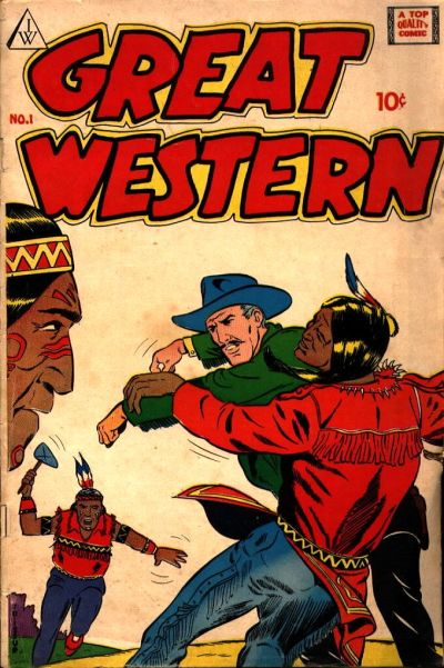Cover for Great Western (I. W. Publishing; Super Comics, 1958 series) #1