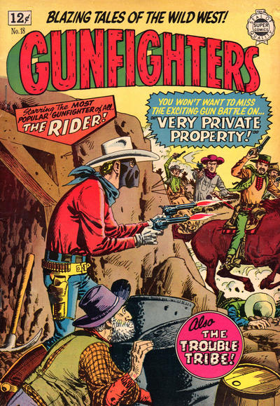Cover for Gunfighters (I. W. Publishing; Super Comics, 1958 series) #18