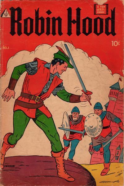 Cover for Robin Hood (I. W. Publishing; Super Comics, 1958 series) #1