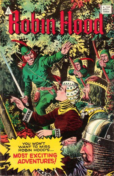 Cover for Robin Hood (I. W. Publishing; Super Comics, 1958 series) #9