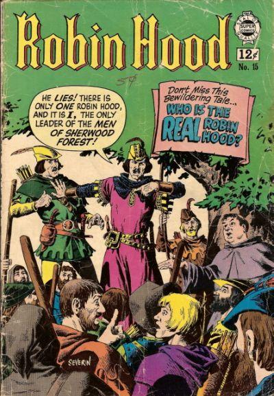 Cover for Robin Hood (I. W. Publishing; Super Comics, 1958 series) #15