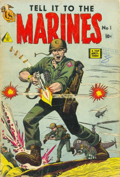 Cover for Tell It to the Marines (I. W. Publishing; Super Comics, 1958 series) #1