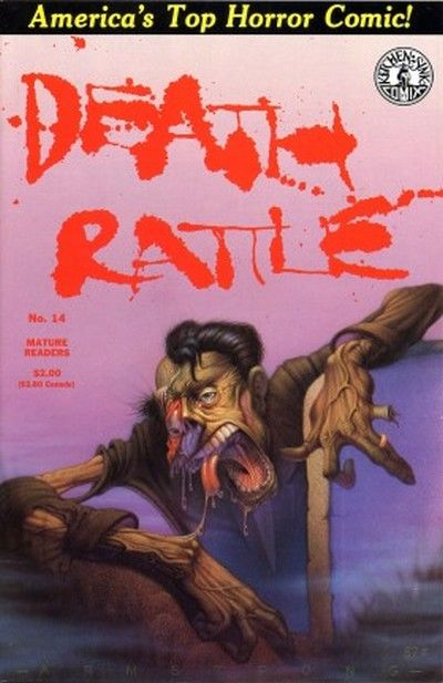 Cover for Death Rattle (Kitchen Sink Press, 1985 series) #14