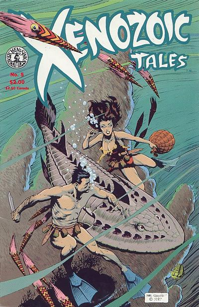Cover for Xenozoic Tales (Kitchen Sink Press, 1987 series) #5