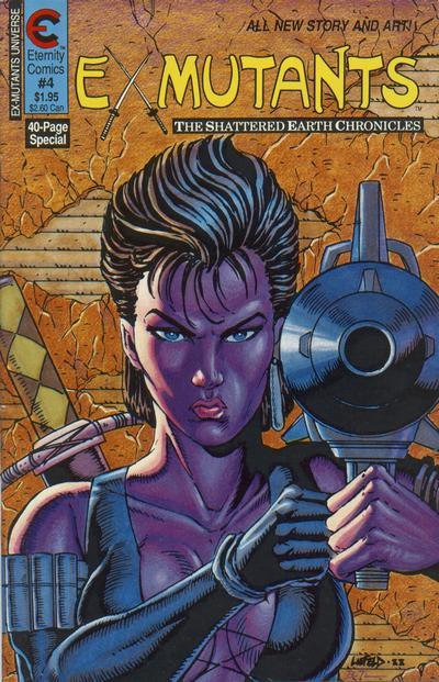 Cover for Ex-Mutants The Shattered Earth Chronicles (Malibu, 1988 series) #4