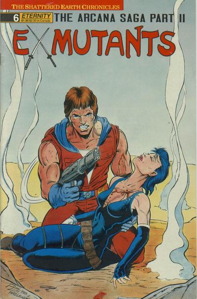 Cover for Ex-Mutants The Shattered Earth Chronicles (Malibu, 1988 series) #6