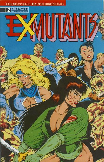 Cover for Ex-Mutants The Shattered Earth Chronicles (Malibu, 1988 series) #12