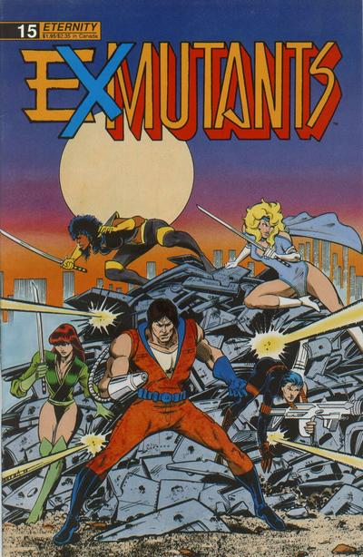 Cover for Ex-Mutants The Shattered Earth Chronicles (Malibu, 1988 series) #15