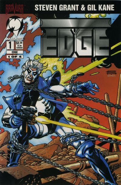 Cover for Edge (Malibu, 1994 series) #1 [Newsstand]