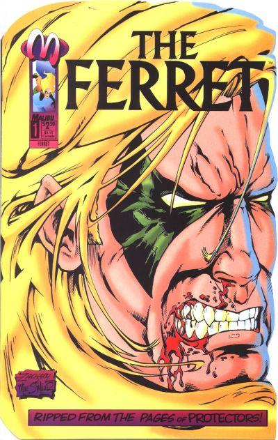 Cover for The Ferret (Malibu, 1993 series) #1 [Direct Edition]