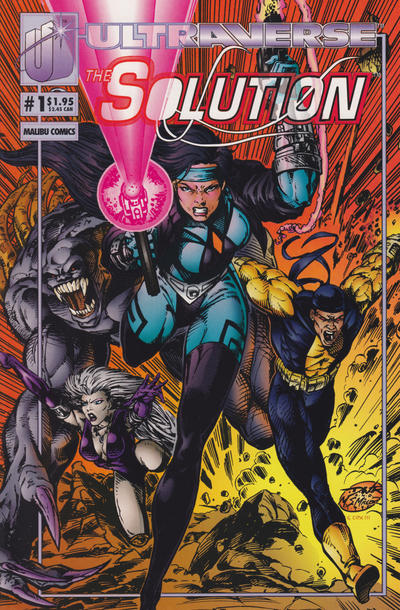 Cover for The Solution (Malibu, 1993 series) #1 [Direct]