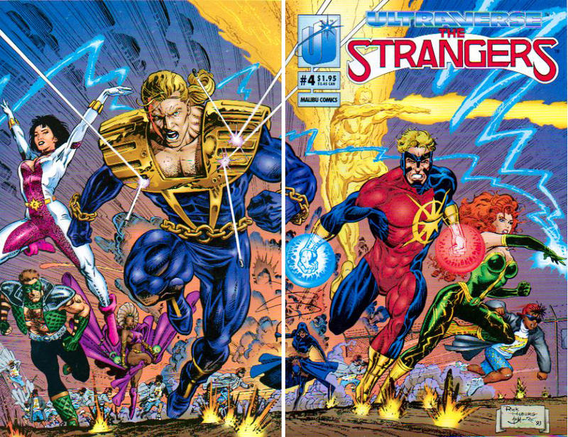 Cover for The Strangers (Malibu, 1993 series) #4 [Direct]