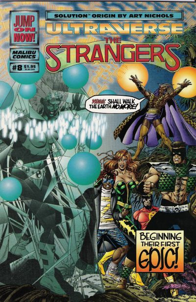 Cover for The Strangers (Malibu, 1993 series) #8 [Newsstand Edition]