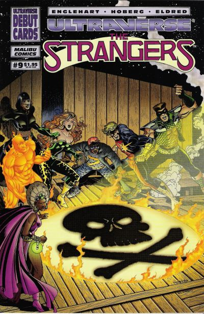 Cover for The Strangers (Malibu, 1993 series) #9 [Newsstand Edition]