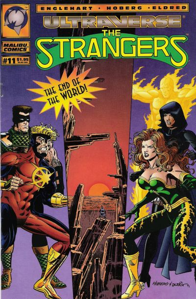 Cover for The Strangers (Malibu, 1993 series) #11 [Direct Edition]