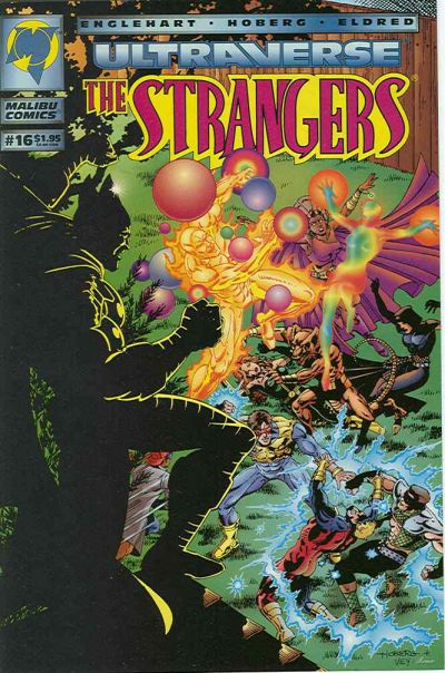 Cover for The Strangers (Malibu, 1993 series) #16 [Newsstand Edition]