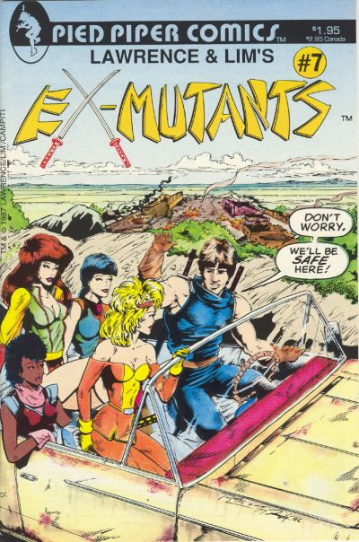 Cover for Lawrence & Lim's Ex-Mutants (Pied Piper Comics, 1987 series) #7