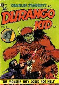 Cover Thumbnail for Charles Starrett as the Durango Kid (Magazine Enterprises, 1949 series) #15