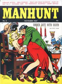 Cover Thumbnail for Manhunt (Magazine Enterprises, 1947 series) #2