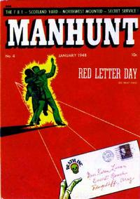 Cover Thumbnail for Manhunt (Magazine Enterprises, 1947 series) #4
