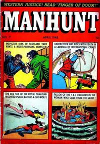 Cover Thumbnail for Manhunt (Magazine Enterprises, 1947 series) #7