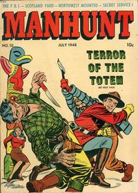 Cover Thumbnail for Manhunt (Magazine Enterprises, 1947 series) #10