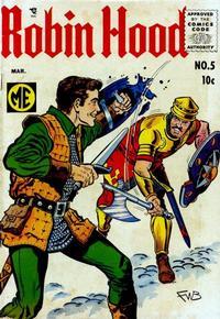 Cover Thumbnail for Robin Hood (Magazine Enterprises, 1955 series) #5