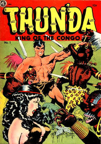 Cover Thumbnail for Thun'da, King of the Congo (Magazine Enterprises, 1952 series) #1