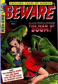 Cover Thumbnail for Beware (Trojan Magazines, 1953 series) #16 [4]