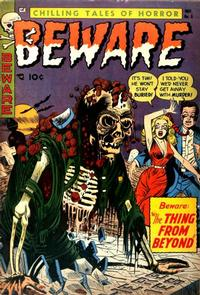 Cover for Beware (Trojan Magazines, 1953 series) #6