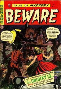 Cover Thumbnail for Beware (Trojan Magazines, 1953 series) #13