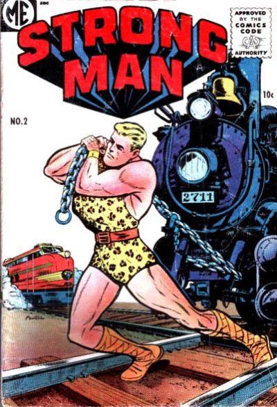 Cover for Strongman (Magazine Enterprises, 1955 series) #2 [A-1 #132]