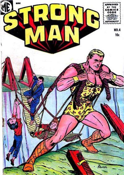 Cover for Strongman (Magazine Enterprises, 1955 series) #4 [A-1 #139]