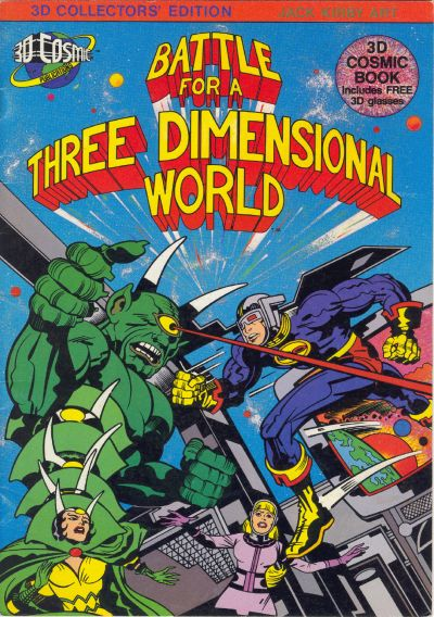 Cover for Battle for a Three Dimensional World (3D Cosmic Publications, 1982 series) #[nn]