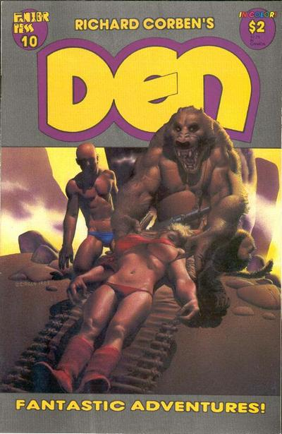Cover for Den (Fantagor Press, 1988 series) #10