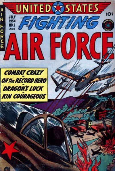 Cover for U.S. Fighting Air Force (Superior Publishers Limited, 1952 series) #9