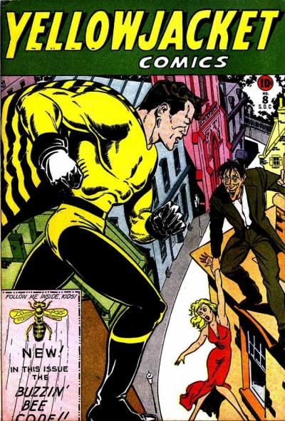 Cover for Yellowjacket Comics (Charlton, 1944 series) #8