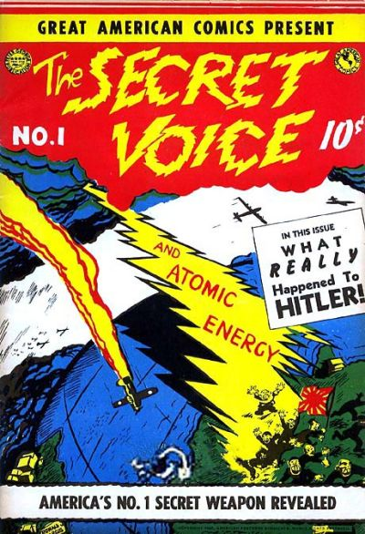 Cover for The Secret Voice (Great American Comics; Peter George Four Star Publication; American Features Syndicate, 1945 series) #1