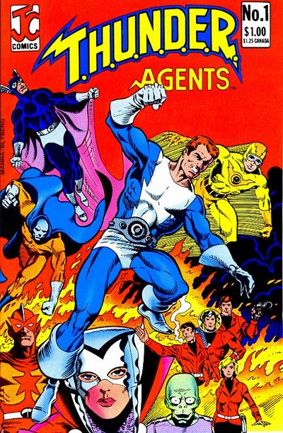 Cover for T.H.U.N.D.E.R. Agents (JC Comics, 1983 series) #1