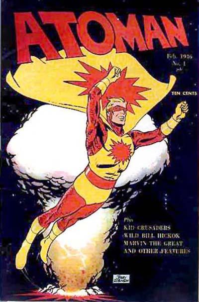 Cover for Atoman Comics (Spark Publications, 1946 series) #1